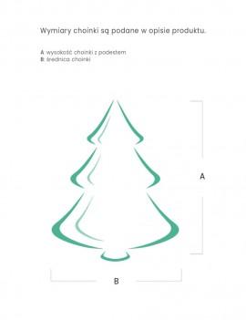 Alpejski 90cm ośnieżony/flock tree 90 cm